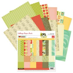 "Hometown Summer Paper Pack 12""x12"" Pink Paislee"