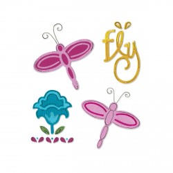 Dragonfly Set Sizzix Sizzlits Medium