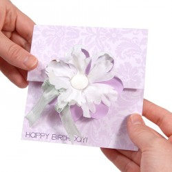 Card Flower Flip-its Sizzix Movers & Shapers L