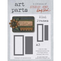 Mini Frames Art Parts Chipboard Studio 490 Wendy Vecchi