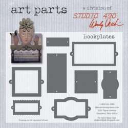 Bookplatest Art Parts Chipboard Studio 490 Wendy Vecchi