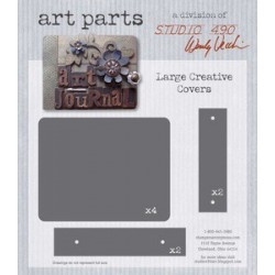 Large Creative Covers Art Parts Chipboard Studio 490 Wendy Vecchi