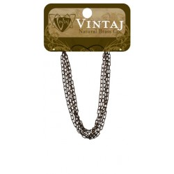 "Fine Ornate Chain 24"" Vintaj Metall Accents"