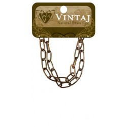 "Elongated Oval Chain 16"" Vintaj Metall Accents"