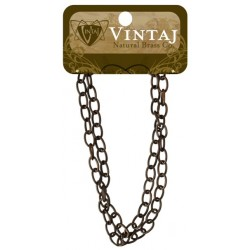 "Fine Oval Chain 16"" Vintaj Metall Accents"
