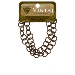 "Round Link Chain 14"" Vintaj Metall Accents"