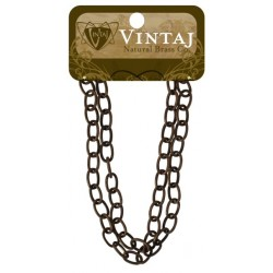 """Etched Cable Chain 16"""" Vintaj Metall Accents"""