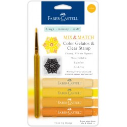Yellow Mix & Match Color Gelatos & Clear Stamp