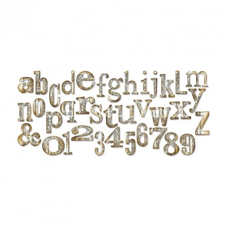 Word Play Alphabet by Tim Holtz Sizzix Bigz XL Die