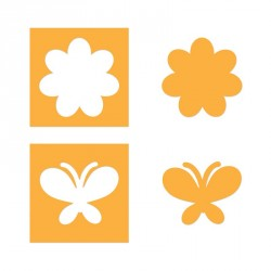 Flower & Butterfly Set Sizzix Movers & Shapers