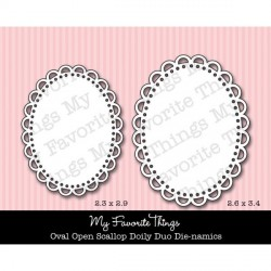 Oval Open Scallop Doily Duo Die-namics