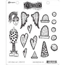 Love Struck Lucy Dyan Reaveley's Dylusions Cling Stamp