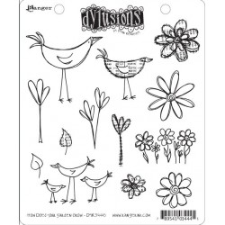 How Does Your Garden Grow Dyan Reaveley's Dylusions Cling Stamp