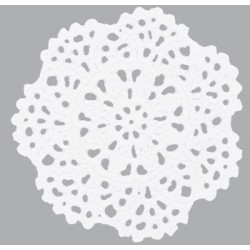 White Crochet Doilie Flower Kaisercraft