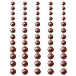 Chocolate Delight Pearls Adhesive 60/Pkg