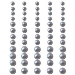 Silver Pearls Adhesive 60/Pkg
