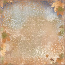 """Autumn in the Air 12""""x12"""" Walking in the forest Maja Design"""
