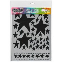 "Starry Starry Night Dylusion Stencil 9""x12"" Dyan Reaveley"