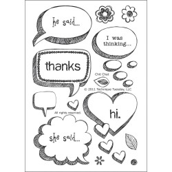 Chit Chat Clear Stamps Technique Tuesday