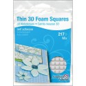White Thin 3 D Foam Square Self Adhesive