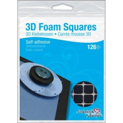 Black 3 D Foam Square Self Adhesive