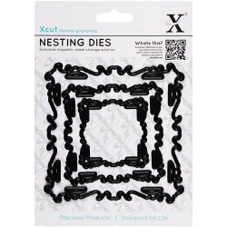 Ornate Frame Squiggle square Nesting Dies Xcut docrafts