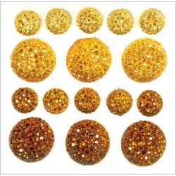 Daffodil Sparklets Self-Adhesive Rhinestone Clusters Kaisercraft