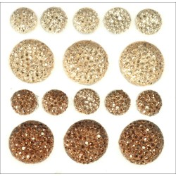 Cameo Sparklets Self-Adhesive Rhinestone Clusters Kaisercraft
