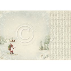 "Nisse 12"" x 12"" Wintertime in Swedish Lapland Pion design"