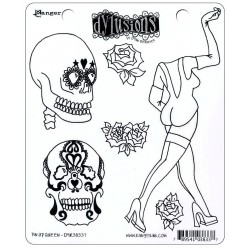Pin Up Queen Dyan Reaveley's Dylusions Cling Stamp