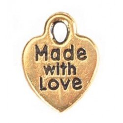 Charms Gold Made With Love