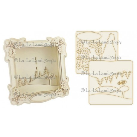 Christmas Shadow Box Kit La-La Land