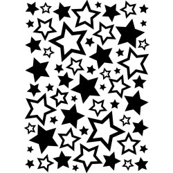 Stars Assortment Embossing Folder Darice