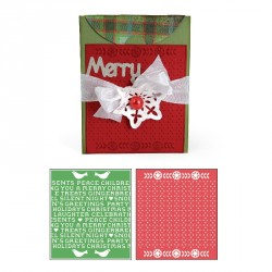 Card A2 w Flap and Holiday Cross Stitch & Pattern Set Bigz Extra Long Die Sizzix