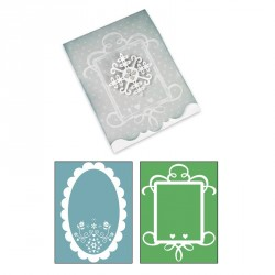 Card Ornate 3 and Frames Set Bigz Extra Long Die Sizzix