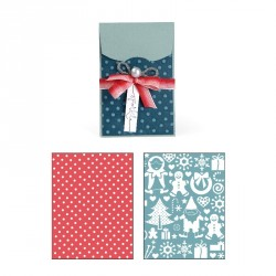 Gift Card Holder and Snow Village Set Bigz Extra Long Die Sizzix