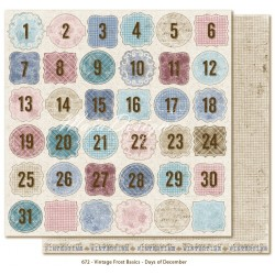 "Days of December 12""x12"" Vintage Frost Basics Maja Design"
