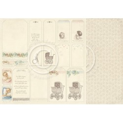 """Tags 12"""" x 12"""" Sweet Baby Pion design"""