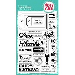 "Simply Everyday Tags Clear Stamp Set 4""x6"" Avery Elle"