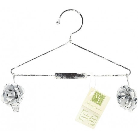 "Decorative Hanger With Flower Clips 8"" Melissa Frances"