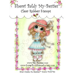Gypsy Rose Tea Clear Rubber Stamp My Besties