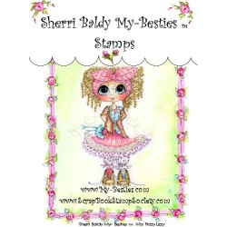 Miss Frizzy Lizzy Clear Rubber Stamp My Besties