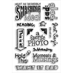 Smashing Notes Clear Stamps Stampendous