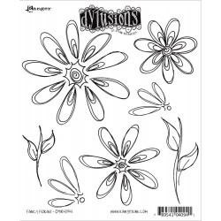 Fancy Florals Dyan Reaveley's Dylusions Cling Stamp