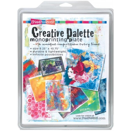 Creative Palette Monoprinting Plate Stampendous