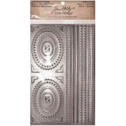 "Metallic Frames & Trims Industrious Stickers 5""x8"" Idea-ology by Tim Holtz"