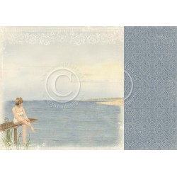 "Warm Breeze 12"" x 12"" Shoreline Treasures Pion design"