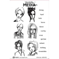 All the Gals Dina Wakley Media Stamps