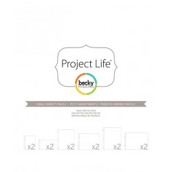 Small Variety Pack 2 Project Life Page Protectors 12 Pkg