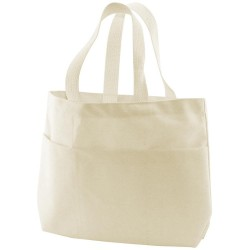 "Natural Canvas Medium Tote Bag 9"" x 2,75"" x 10"""